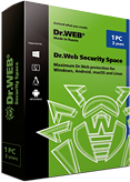 Dr.Web Security Space 2台电脑/Mac机/2年