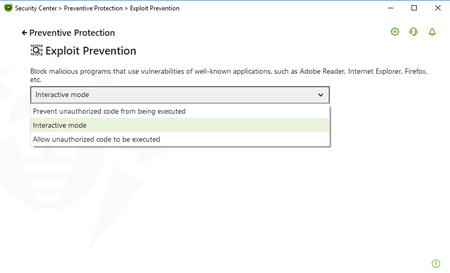 Screenshot: Exploit Prevention